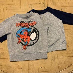 Toddler Boy's 2T Sweatshirt Bundle Spider-Man Gray